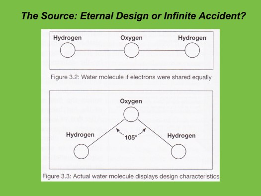 Oxygen Atom Design and Water