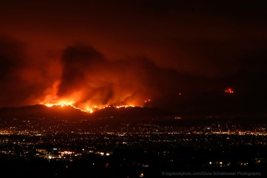 Blaming California Wildfires on God