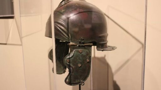 Foster Stanback and the Clayton Museum - Roman Soldier's Helmet