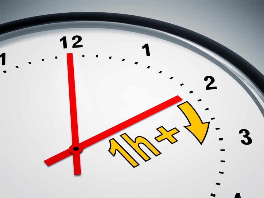L'heure nationale sera avancée de 60 minutes à partir du 7 Mars