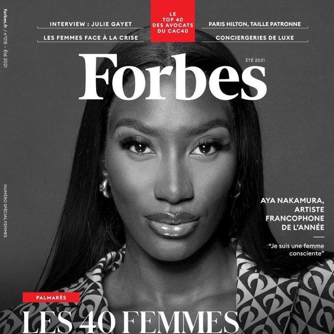 Aya Nakamura en couverture de Forbes France