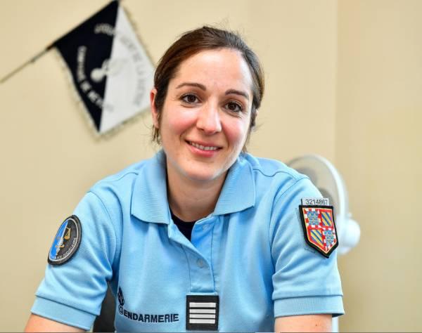 Isabelle Denis Hoareau, fraîchement nommée commandante de gendarmerie à Pointe-à-Pitre en Guadeloupe