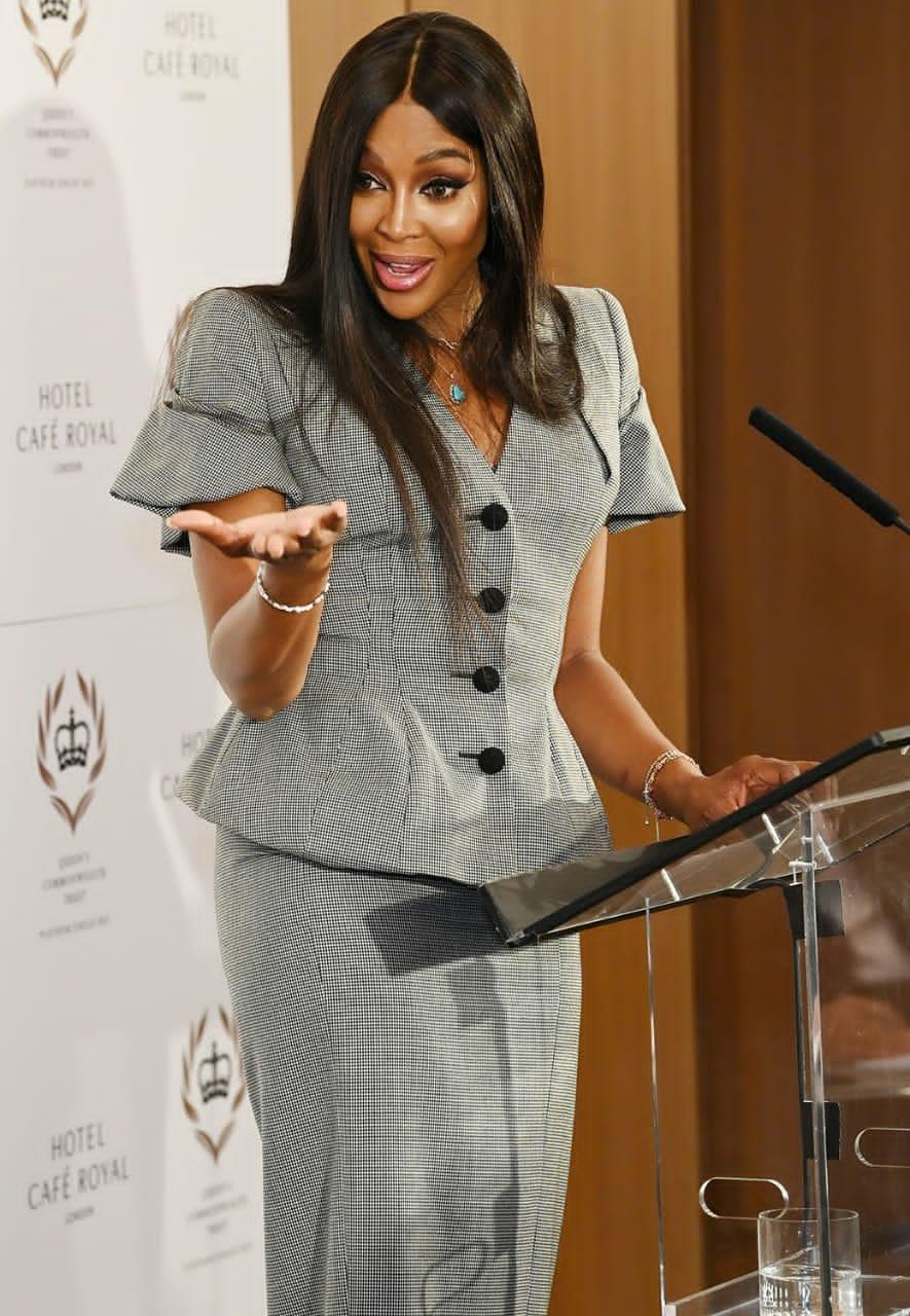 Naomi Campbell, la nouvelle ambassadrice du Queen's Commonwealth Trust pour la fête du jubilé de platine