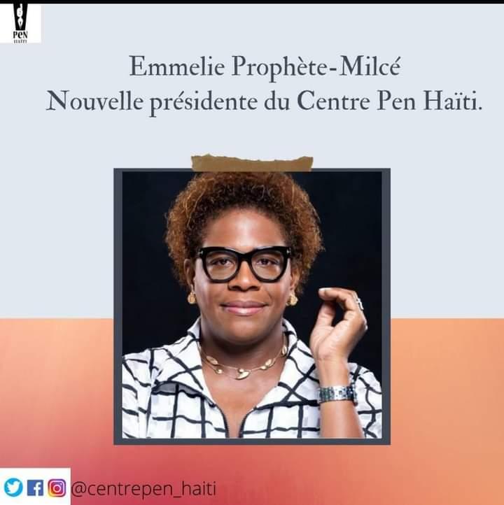 Emmelie Prophète, la nouvelle présidente du Centre Pen Haïti