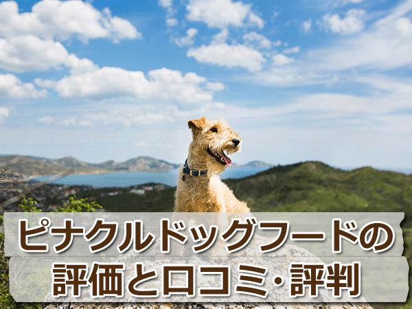 ピナクルドッグフードの原材料を評価【口コミ・評判】