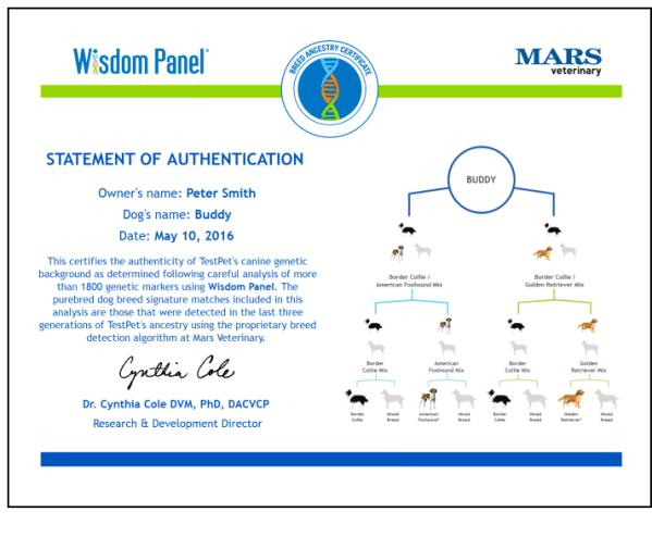 wisdom panel certificate
