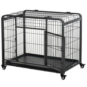 Heavy Duty Metal Dog Crate & Kennel with Removable Tray
