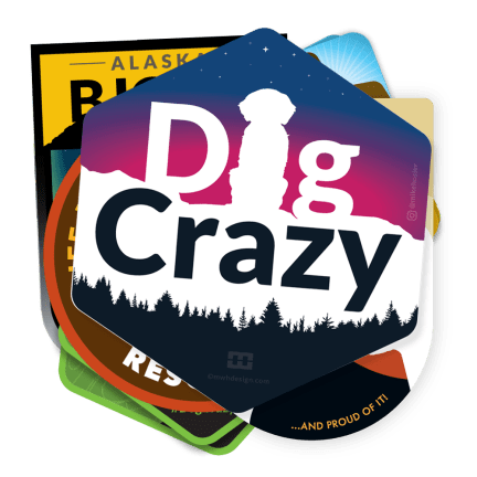 dog crazy stickers 11 pack