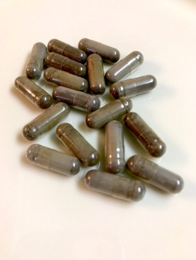 Capsules of an herbal supplement
