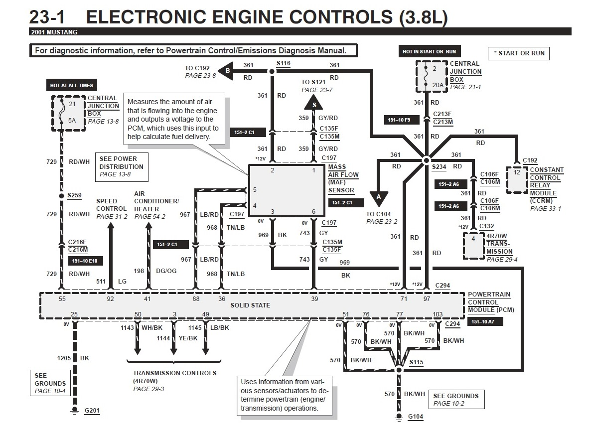 Ford Mustang Ignition Wiring Diagram