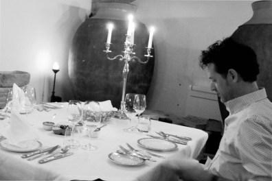 Cena en la bodega de la Herdade dos Grous.