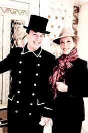 Mi madre con el simpático portero del Hotel Edén.