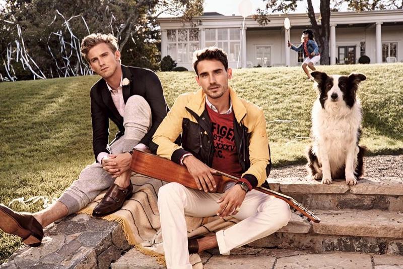 El conocido modelo Noah Mills con el border collie (s-s 2015).