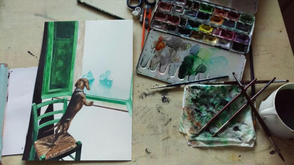 En el estudio de Lulu Figueroa Domecq.