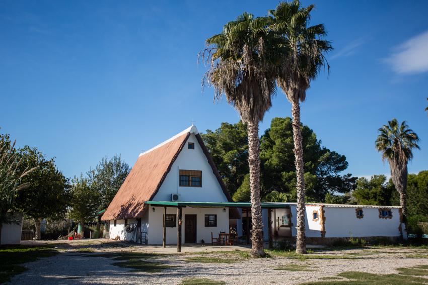 Casa típica de El Palmar.
