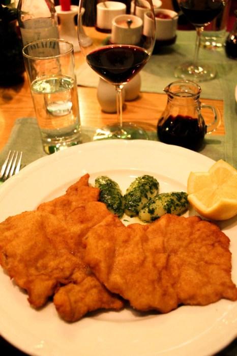Schnitzel, el plato más popular de la cocina austriaca.