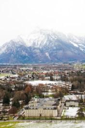 Vistas desde la Fortaleza de Hohensalzburg.