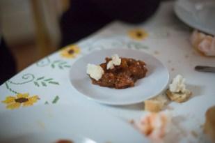 Cena en la casa del cocinera Pedro Galán.