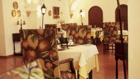 Restaurante de la Pousada Castelo Alvito.