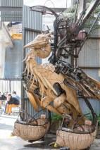 La garza es otra de las creaciones que se pueden ver en Les Machines.