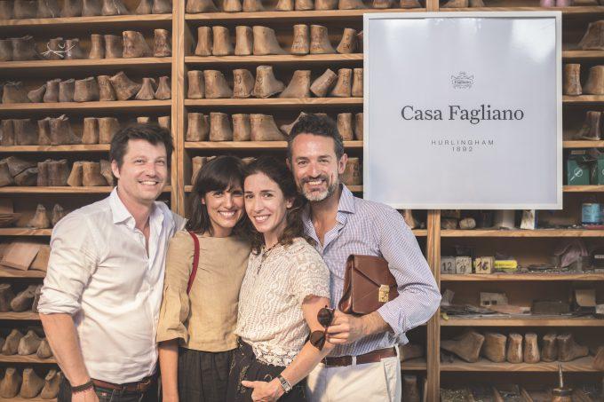 Con María Anchorena, Florinda Perkins y Eduardo García Mansilla.