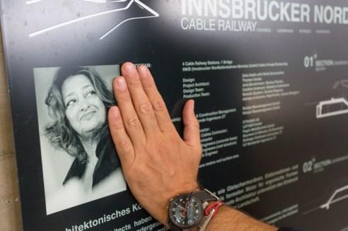 Información acerca de la obra realizada por Zaha Hadid en la estación.