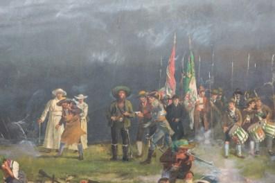 Escena del mural Museo Tirol Panorama.