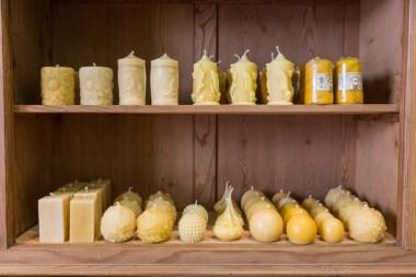Velas artesanales y perfumadas de miel.