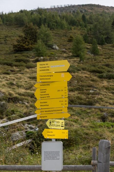Rutas de senderismo por Zirbenweg.