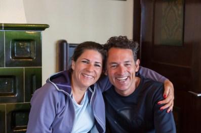 Con Eva Staudinger, mi guía. ¡Que bien lo pasamos!