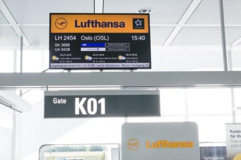 Salida de nuestro vuelo a Múnich a Oslo.