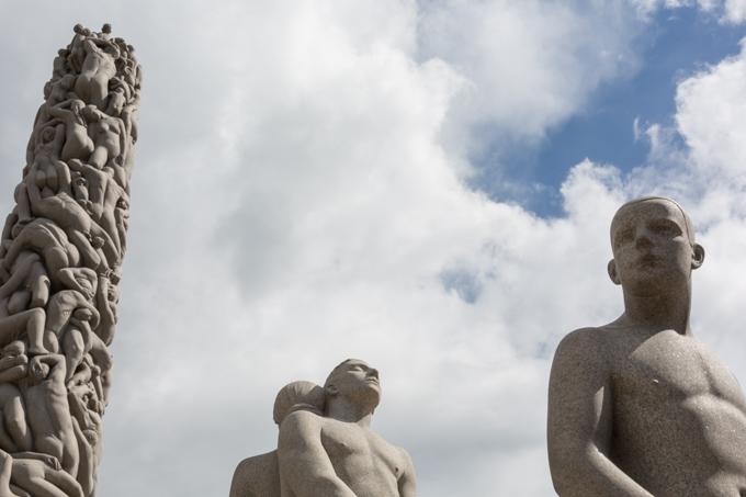 El Monolito, conjunto escultórico de granito.