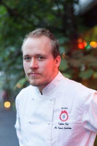 Ake Daniel Lindströmel, jefe de cocina de St. Lars.