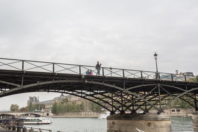 Con Eros en el Pont Des Arts.