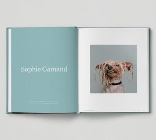 "Páginas del libro ""Really Good Dog Photography""."