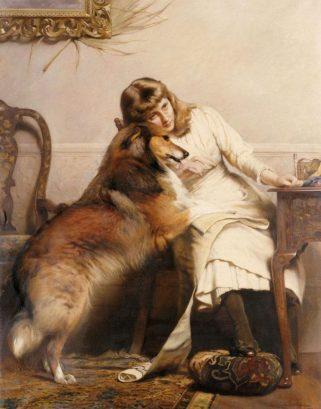 """Sweethearts"" de Charles Burton Barber, 1890."