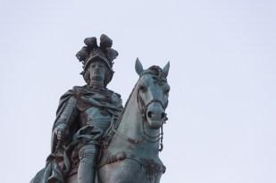 José I y su caballo.