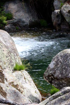 Agua fresca y cristalina.