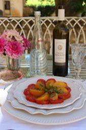 Ensalada de tomates de la huerta.