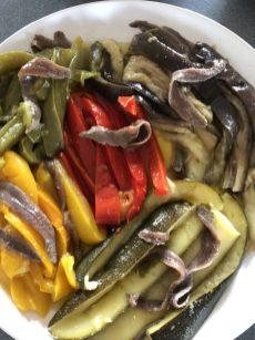 Escalivada de verduras de la huerta.