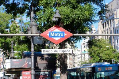 Boca del Metro, Banco de España.