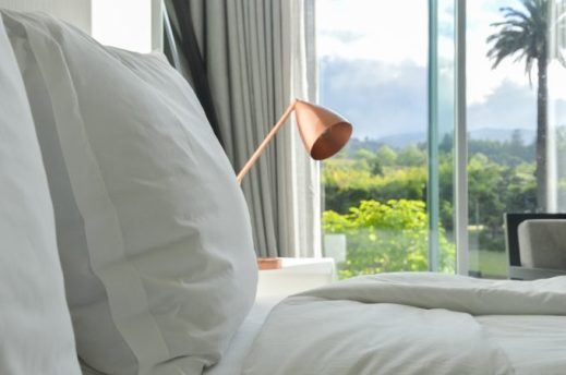 Detalle de una habitación del hotel.
