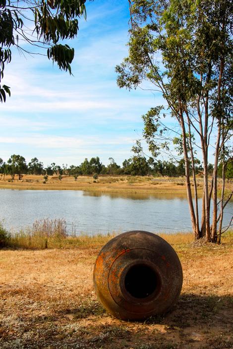 Lago natural de la Herdade dos Grous.