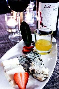 Tabla de quesos de la región de Umbria.