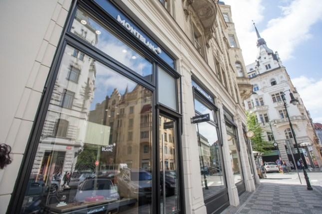 La nueva boutique de MONTBLANC en el barrio más exclusivo de Praga.