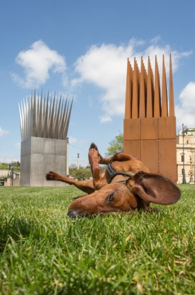 Eros en el monumento en memoria de Jan Palach.