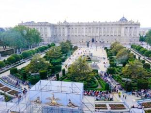 Vistas desde el cocktail de Viena celebrado en el Teatro Real.