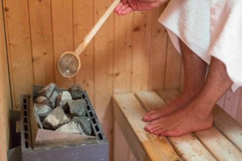 Sesión de sauna.