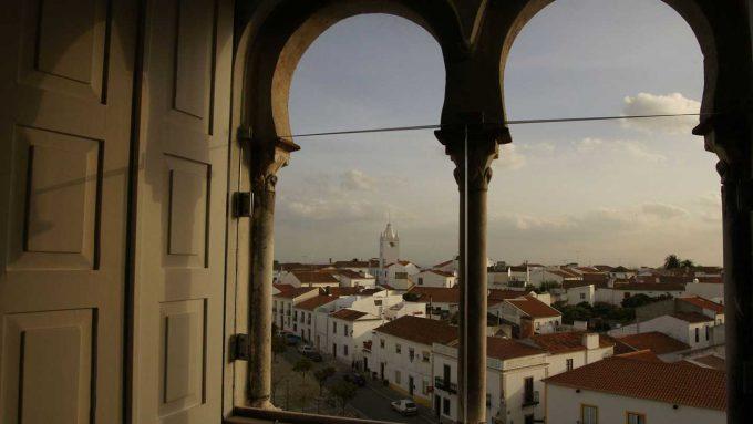 Vistas desde la Pousada Castelo Alvito.