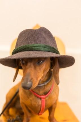 Eros con el sombrero de Tiroler Heimatwerk.